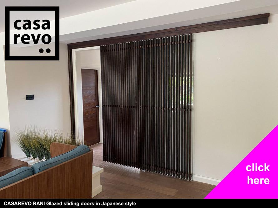 CASAREVO Glass sliding doors in Japanese style