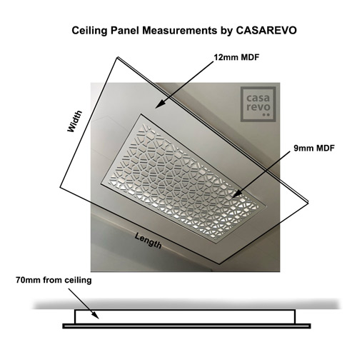 Ceiling panel sizes by CASAREVO