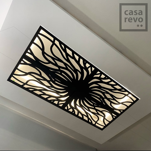 RANVIR Black arabic style ceiling panel designs