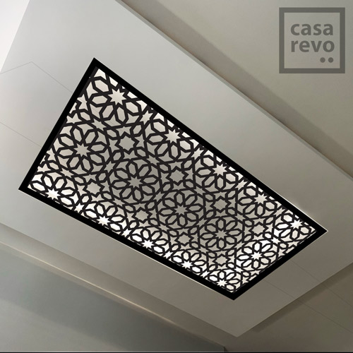 SPARK Arabic black arabic style MDF ceiling panel designs