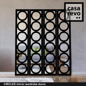 CIRCLES Mirror wardrobe door custom made