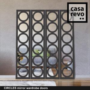 CIRCLES Mirror Wardrobe Door by CASAREVO