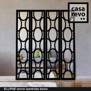 ELLIPSE Mirror Wardrobe Door by CASAREVO