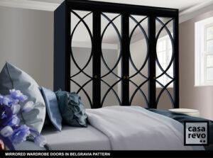 Mirror wardrobe door in Belgravia pattern