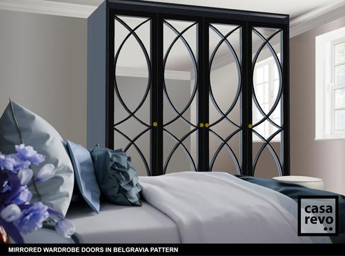 Mirrored wardrobes in Belgravia Dark Blue designs